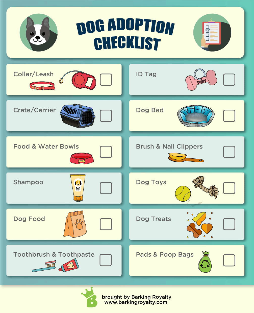 dog adoption checklist